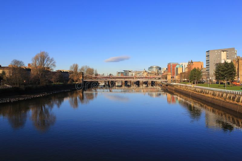 La rivière Clyde un beau matin photographie stock libre de droits