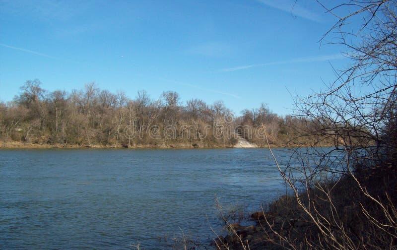 La rivière Cumberland à l'est de Nashville Tennessee images libres de droits