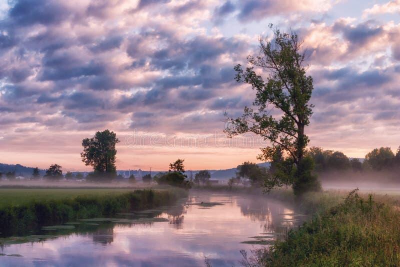 La rivière de Brenz dans Eselsburger Tal près de Herbrechtingen, Allemagne images libres de droits