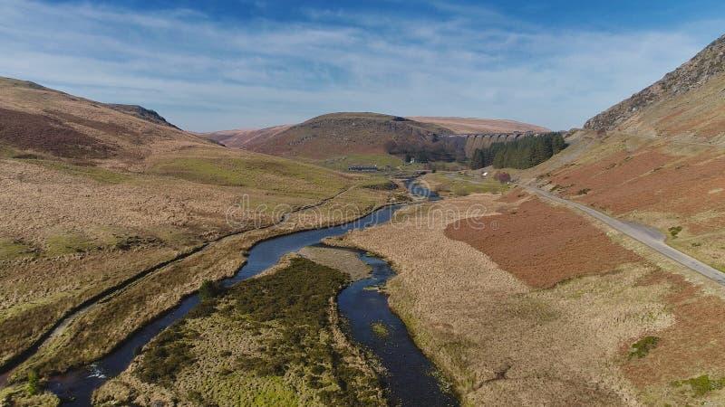 La rivière de Clearwen dans Elan Valley images stock