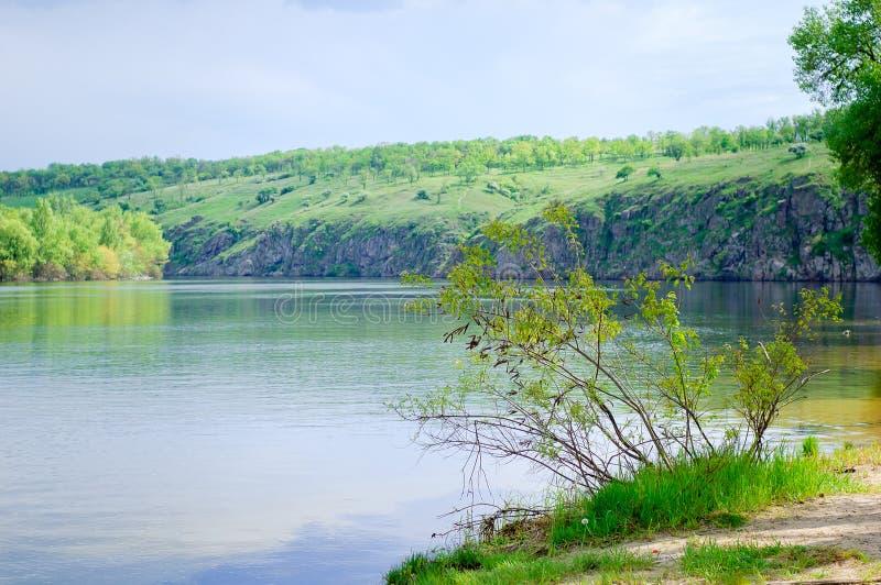 La rivière de Dnipro photo stock
