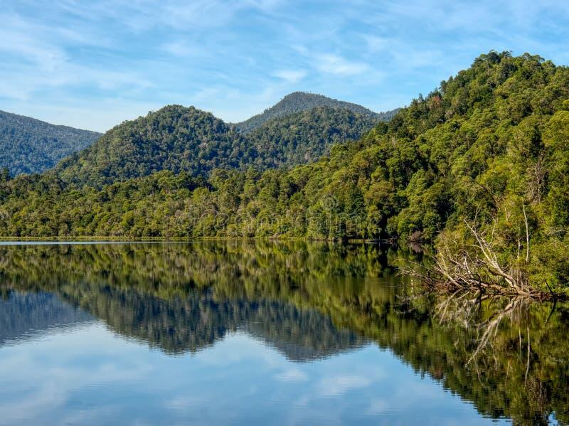 La rivière de Gordon dans l'Australie de la Tasmanie photos stock