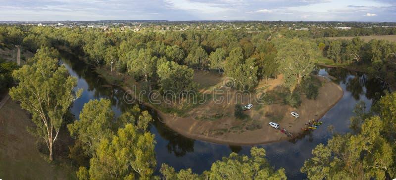 La rivière de Macquarie chez Dubbo image libre de droits