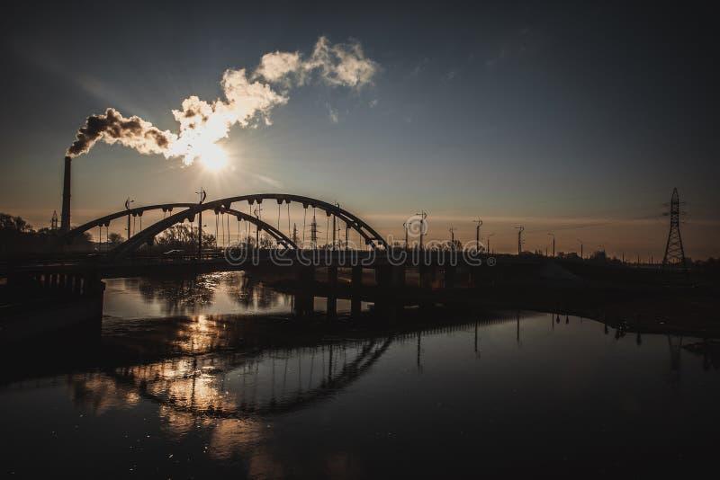La rivière de Mukhavets à Brest, Belarus image libre de droits