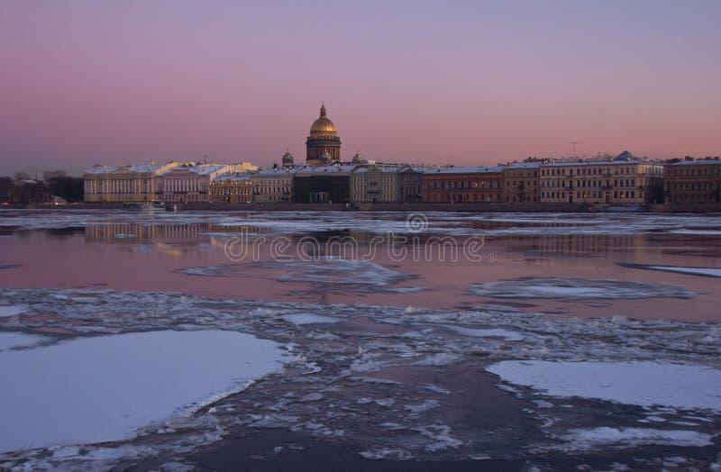 La rivière de Neva, St Petersburg, Russie photos libres de droits