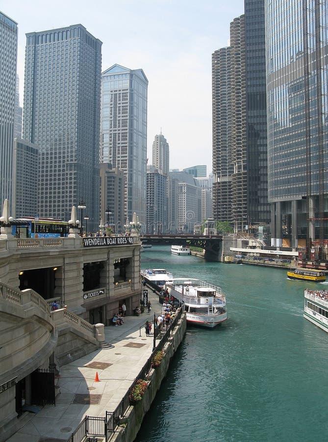 La rivière Green avec le trafic de ferry photographie stock