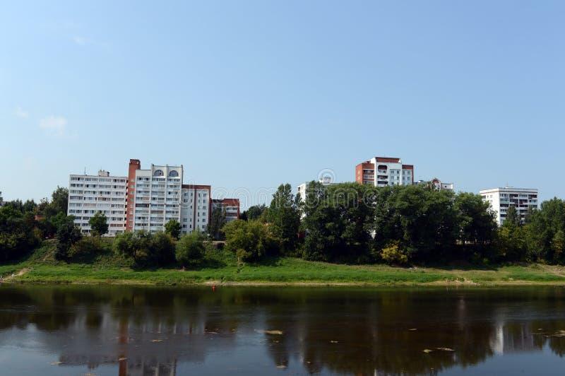 La rivière occidentale de Dvina à Vitebsk photos stock