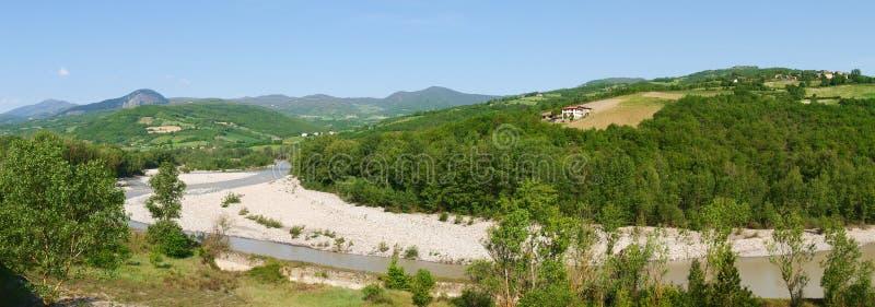 La rivière Trebbia image stock