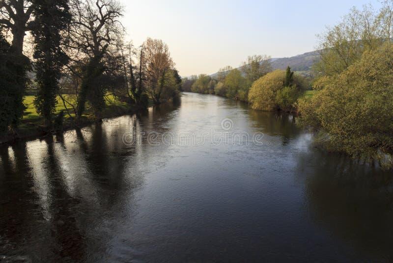 La rivière Usk photographie stock