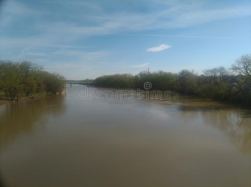 La rivière Wabash à Lafayette du centre Indiana images libres de droits