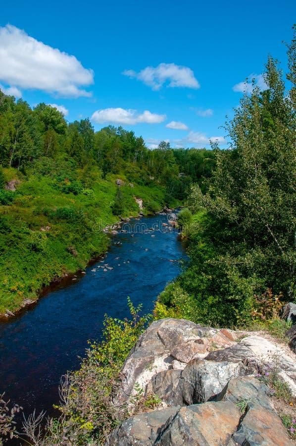 La rivière Wisconsin Sunny Summer Day photos stock