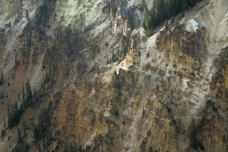 La rivière Yellowstone traverse le canyon grand de yellowstone photographie stock