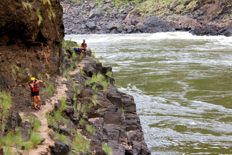 La rivière Zambesi image stock