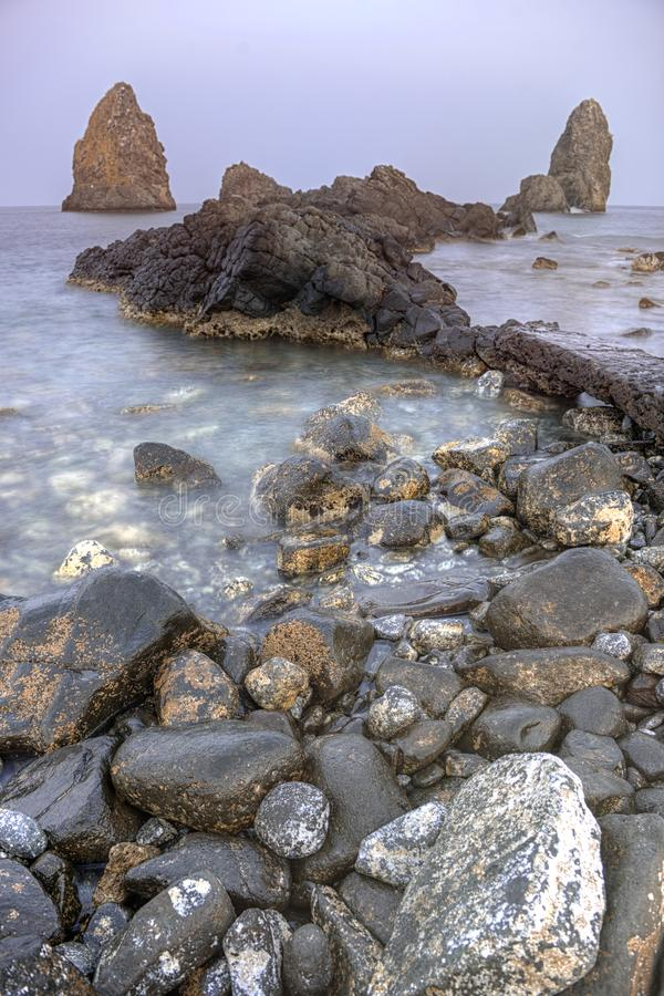 La Riviera dei Ciclopi, Sicily, Italy stock photos