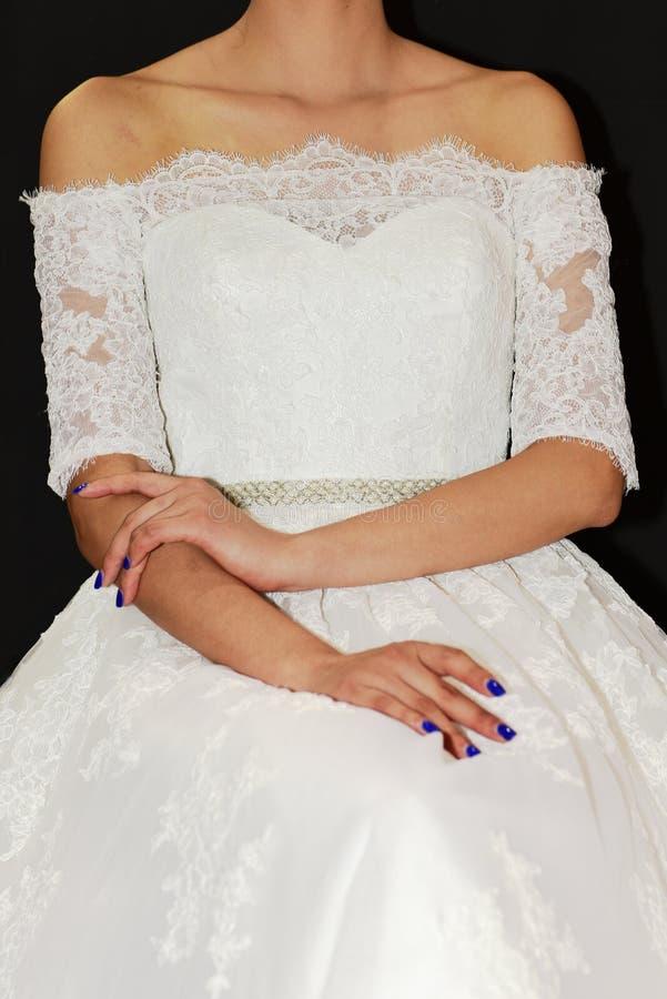 La robe de mariage image stock