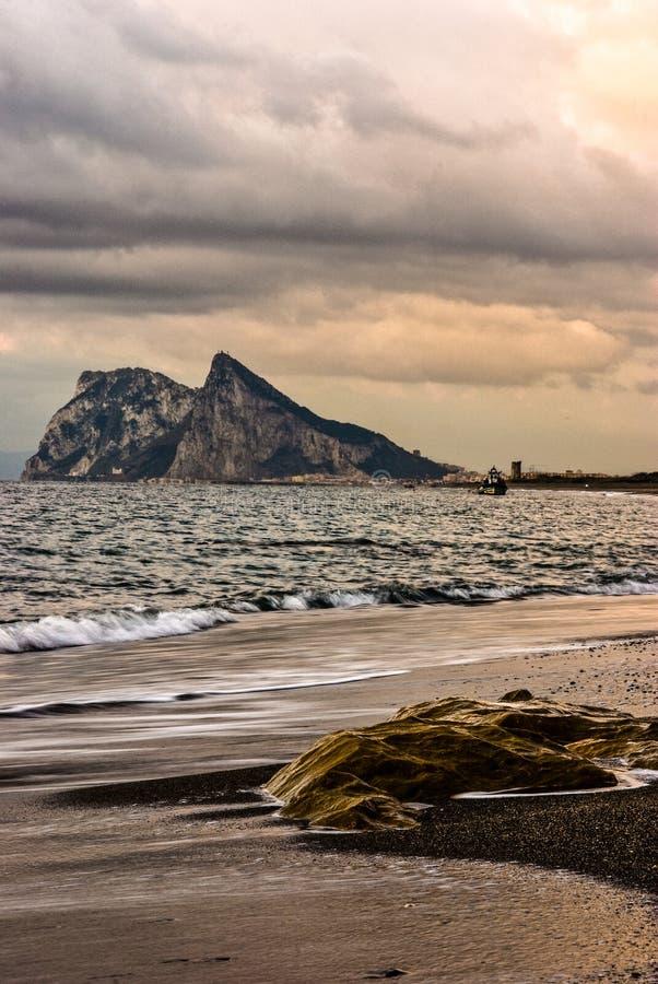 La roca de Gibraltar imagen de archivo libre de regalías