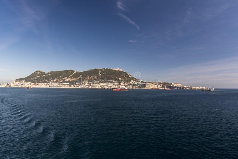 La roca de Gibraltar de la reina Elizabeth imágenes de archivo libres de regalías