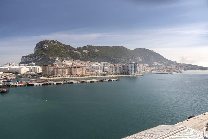 La roca de Gibraltar de la reina Elizabeth fotografía de archivo libre de regalías