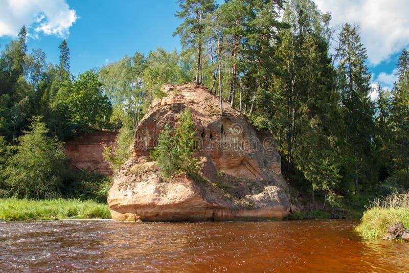 La roca de Zvartes foto de archivo
