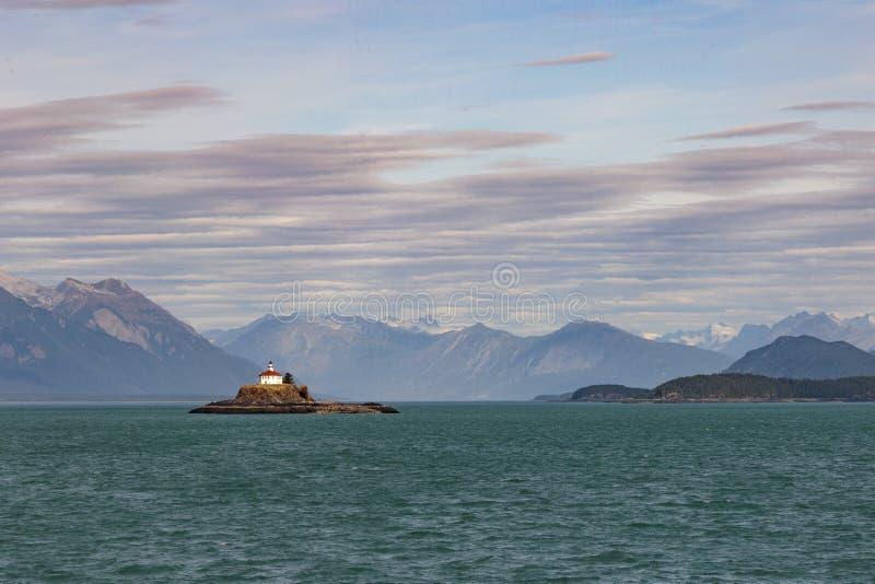 La roca Lightouse de Eldred empleó en 1905 Sullivan Island, canal de Lynn imagenes de archivo