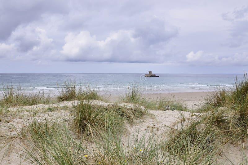 La Rocco塔在泽西,海峡群岛 免版税库存图片