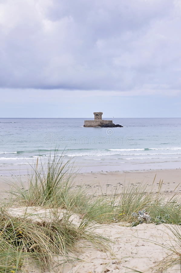 La Rocco Tower in Jersey,Channel Islands royalty free stock photography