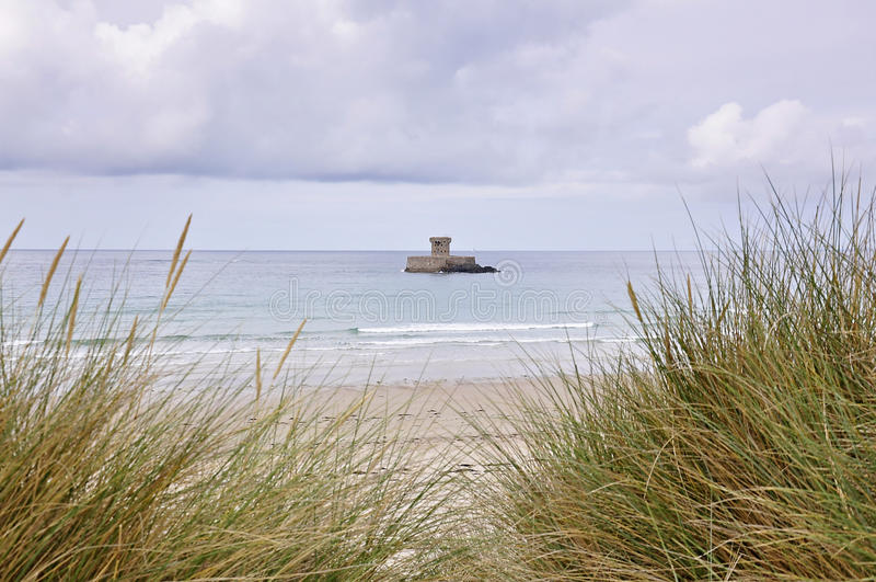 La Rocco Tower in Jersey,Channel Islands stock images