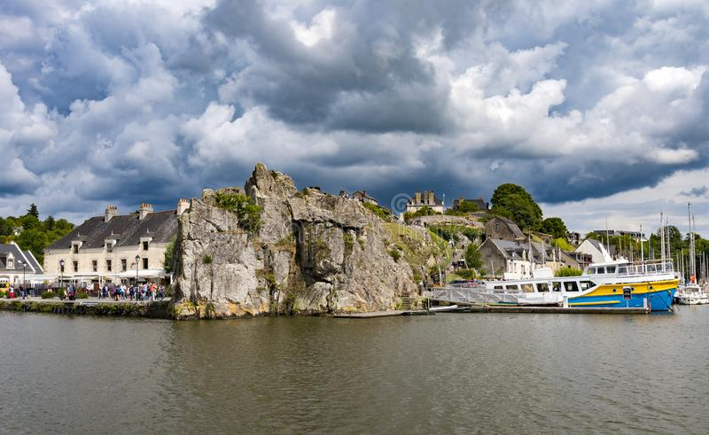 La Roche-Bernard en Bretaña, Francia fotografía de archivo libre de regalías