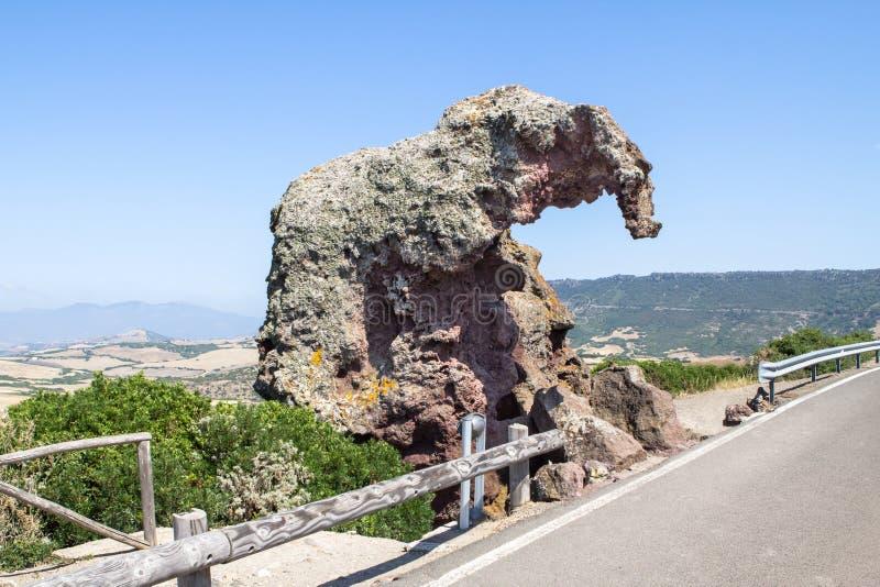 La roche d'éléphant, Sardaigne, Italie photos libres de droits