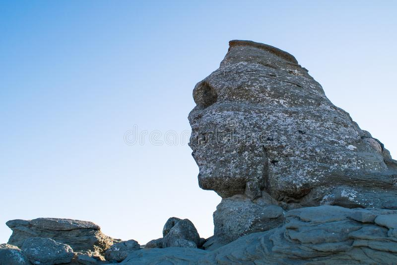 La roche de sphinx, montagnes de Bucegi, Roumanie image stock