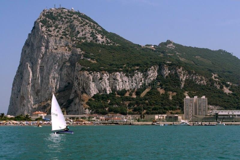 La roche du Gibraltar photographie stock libre de droits