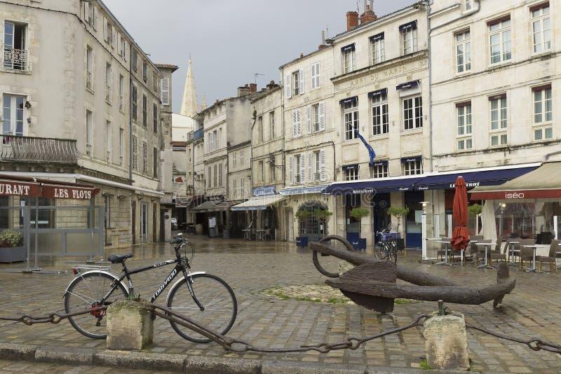 La Rochelle, en fransk stad och en hamnstad i västra Frankrike royaltyfri fotografi