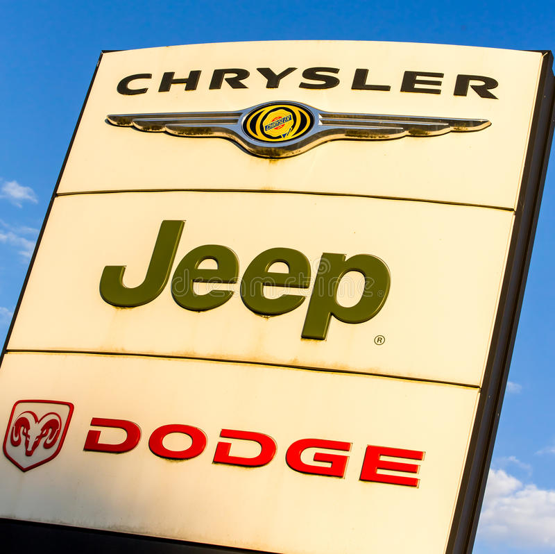 Jeep Dealership Indianapolis >> Chrysler, Jeep, Dodge Logo editorial photography. Image of ...