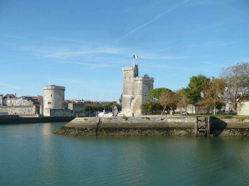 La Rochelle, oude castel, Frankrijk stock foto's