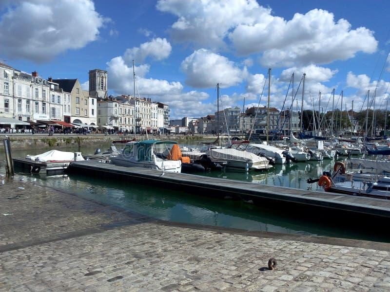 La Rochelle port Frankrike arkivfoto