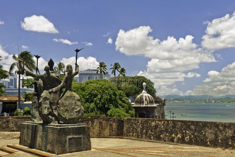 La Rogativa Vecchio San Juan, Porto Rico fotografie stock libere da diritti