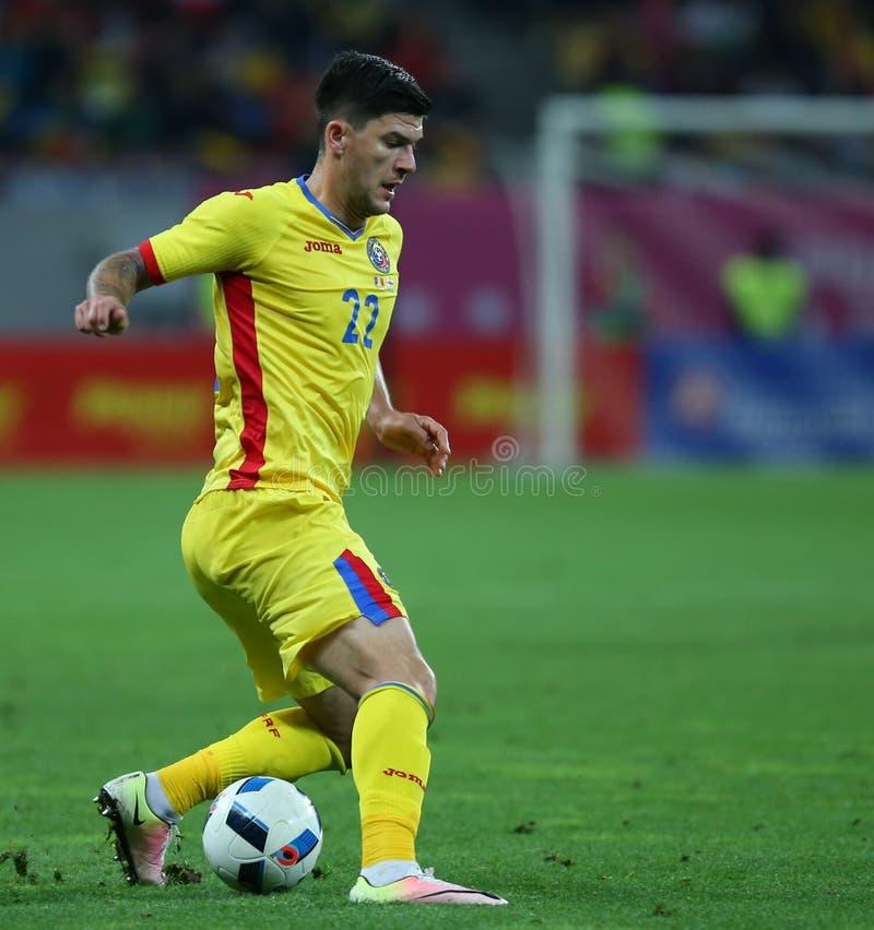 La Romania contro il Lussemburgo (tondo europeo di campionato, di qualificazione dell'UEFA) Piatra Neamt (Romania), il 29 marzo 2 immagine stock libera da diritti