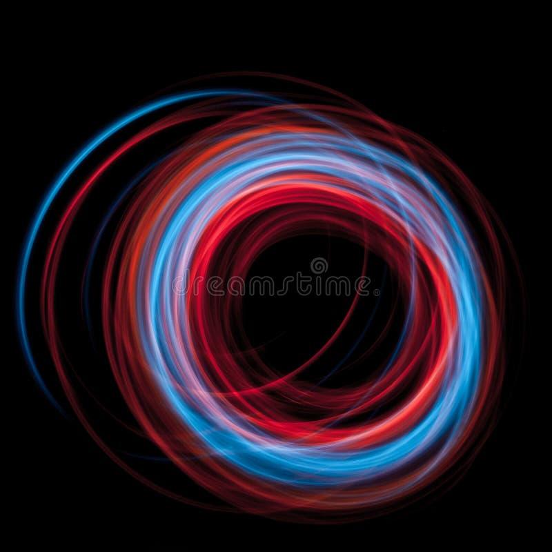 La ronda de pintura ligera llevada multicolora arrastra el fondo abstracto stock de ilustración