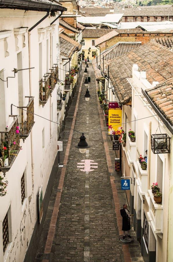 La Ronda Quito Ecuador South America fotografia stock