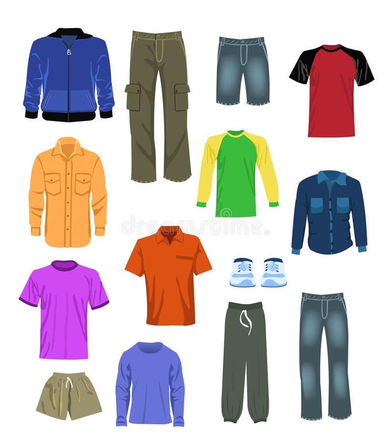 La ropa de los hombres ilustración del vector