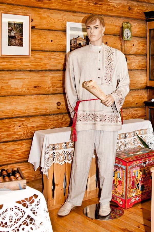 La ropa de los hombres del pueblo del lino fotos de archivo libres de regalías