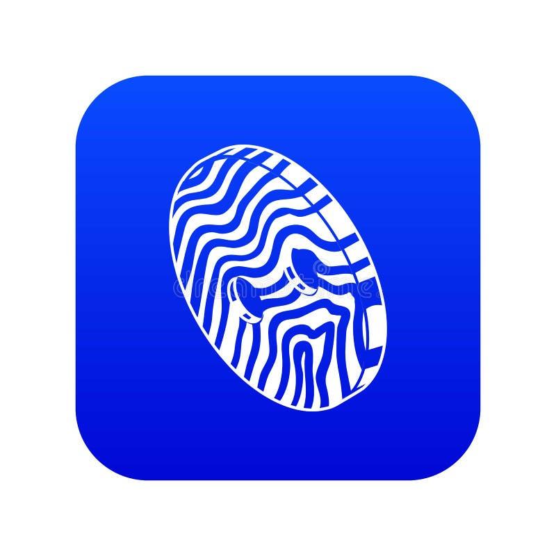 La ropa linear abstracta abotona vector azul del icono ilustración del vector