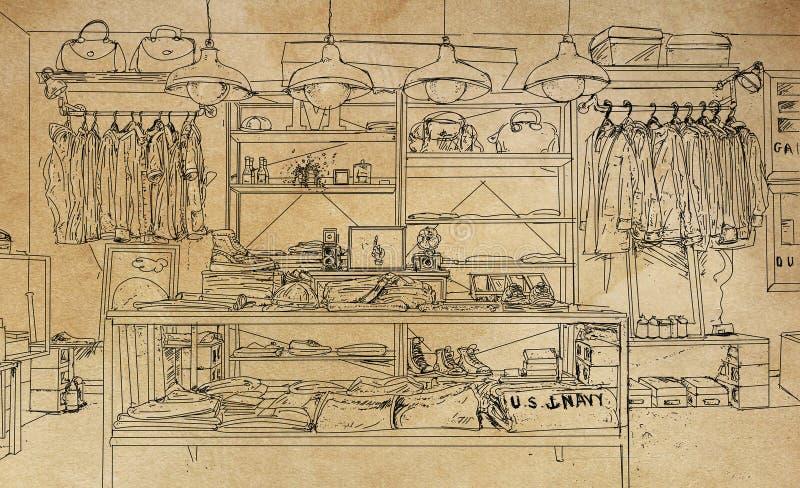 La ropa y los accesorios hacen compras fotografía de archivo libre de regalías