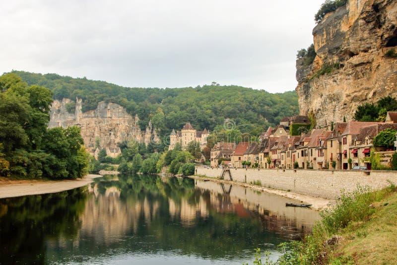 La Roque-Gageac lizenzfreies stockbild