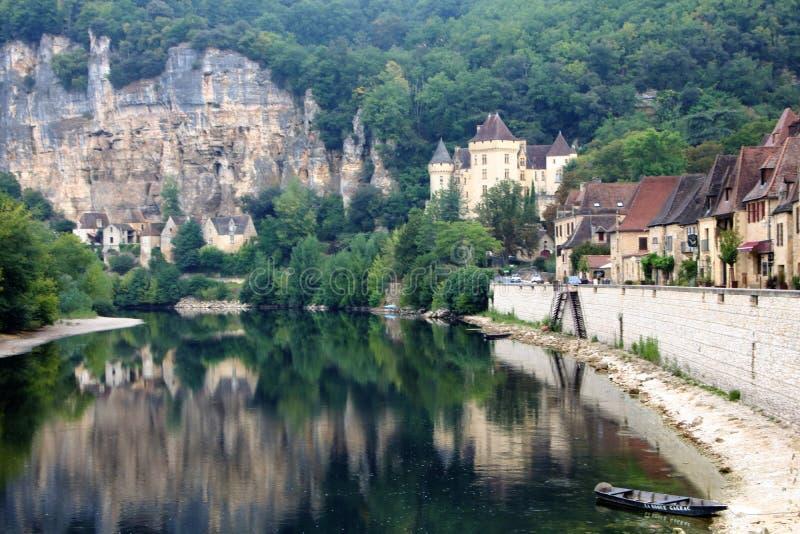 La Roque-Gageac stockbilder