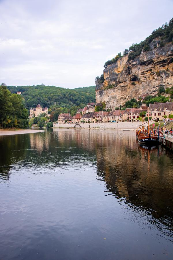 La Roque-Gageac lizenzfreie stockfotografie