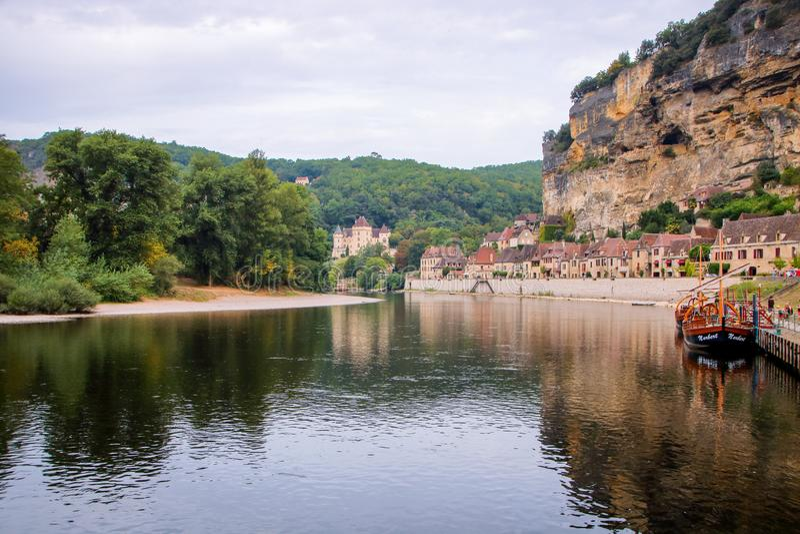La Roque-Gageac 免版税库存图片