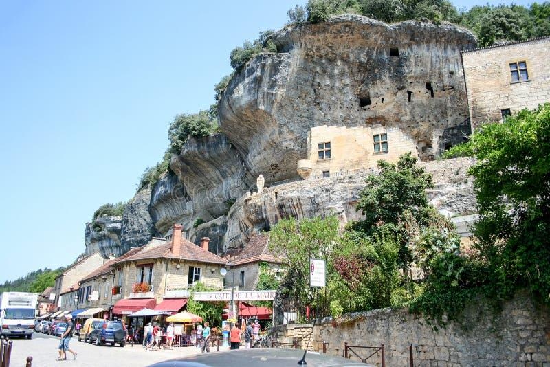 La Roque Gageac 库存照片