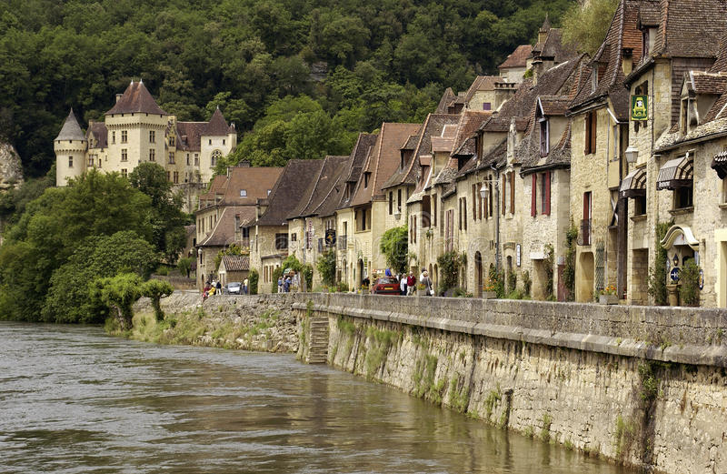 La Roque Gageac - Dordogne - France photos libres de droits