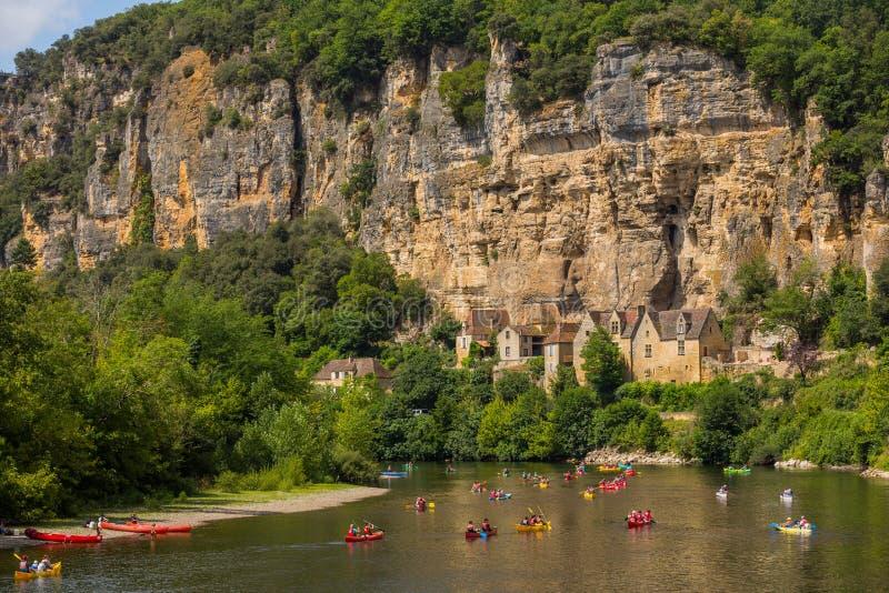 La Roque-Gageac, Dordogne photo libre de droits